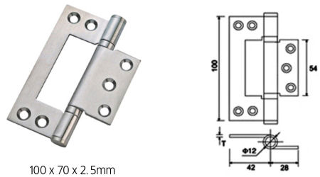 Stainless Steel Ball Bearing Flush Hinges