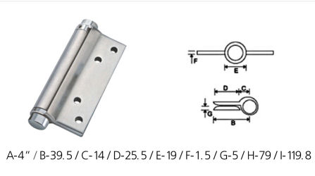 Stainless Steel Spring Hinges - SS Spring Hinges